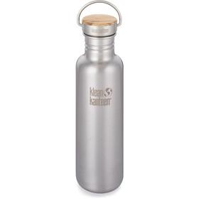 Klean Kanteen Reflect Drinkfles Bamboo Cap 800ml, zilver